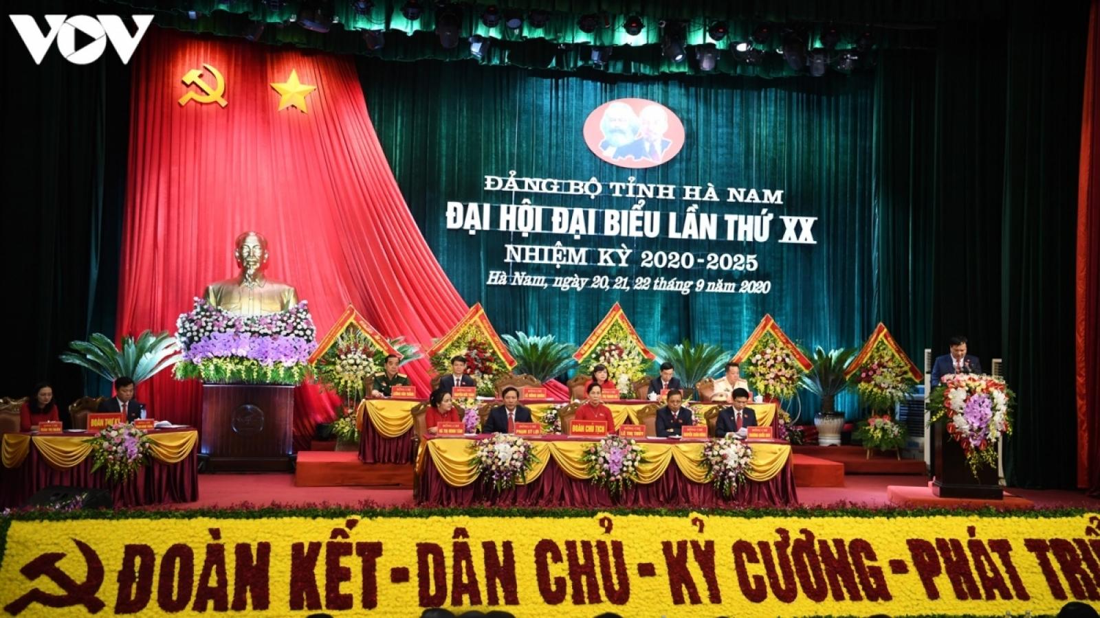 Bế mạc Đại hội Đảng bộ tỉnh Hà Nam lần thứ XX