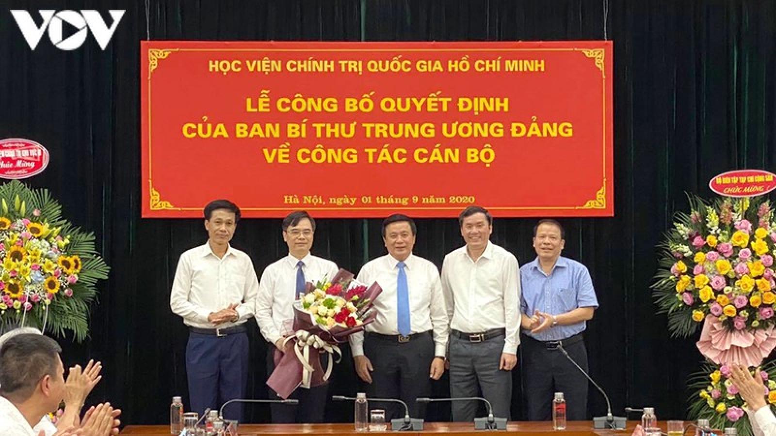 Bổ nhiệm Phó Giám đốc Học viện Chính trị Quốc gia Hồ Chí Minh