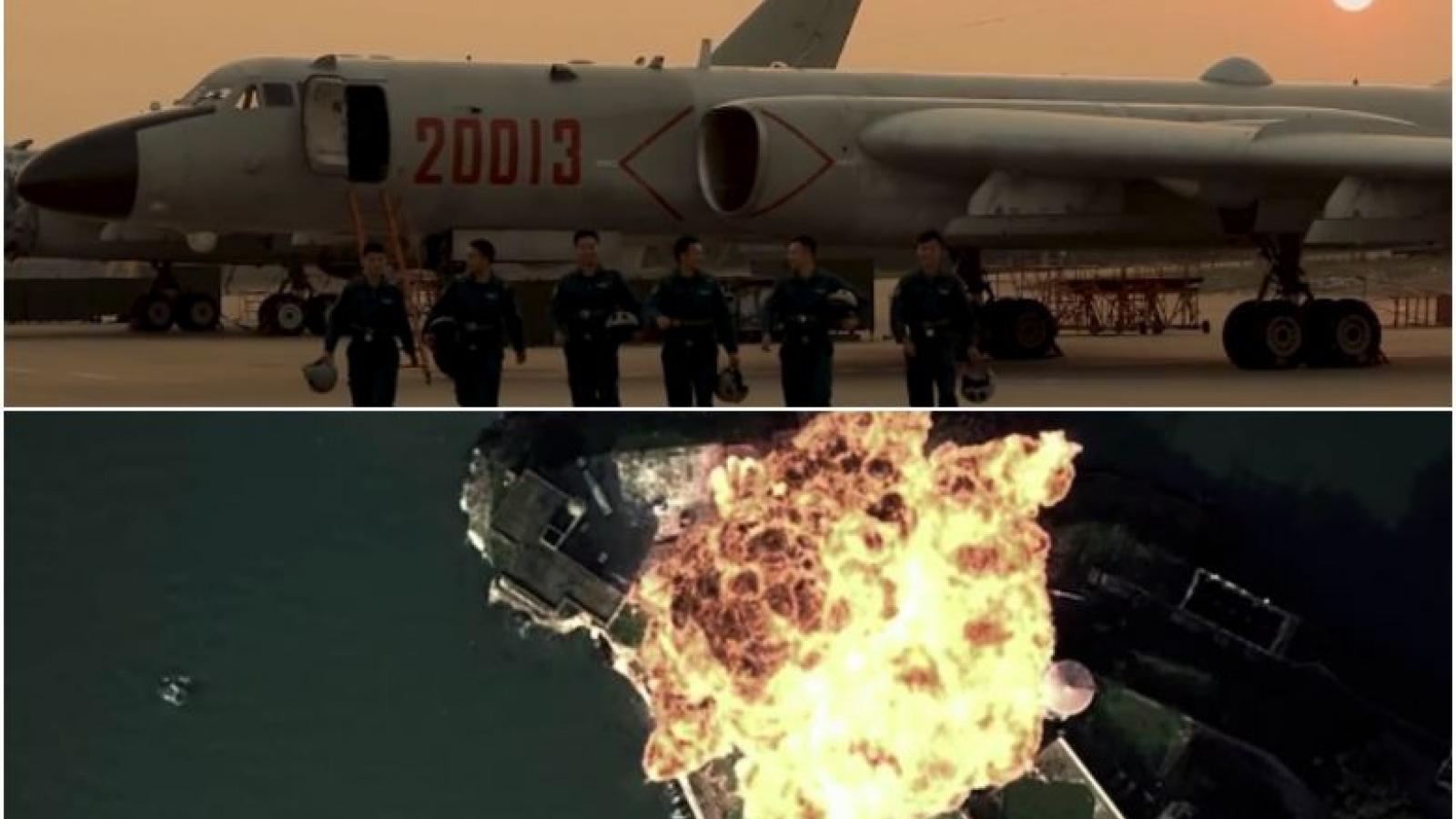 Không quân Trung Quốc tung video tấn công mục tiêu giống căn cứ Mỹ ở đảo Guam
