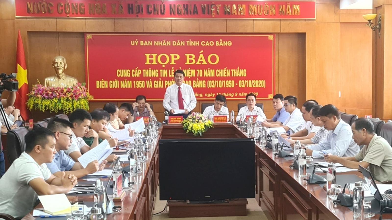 Kỷ niệm 70 năm Chiến thắng Biên giới 1950 và Giải phóng Cao Bằng