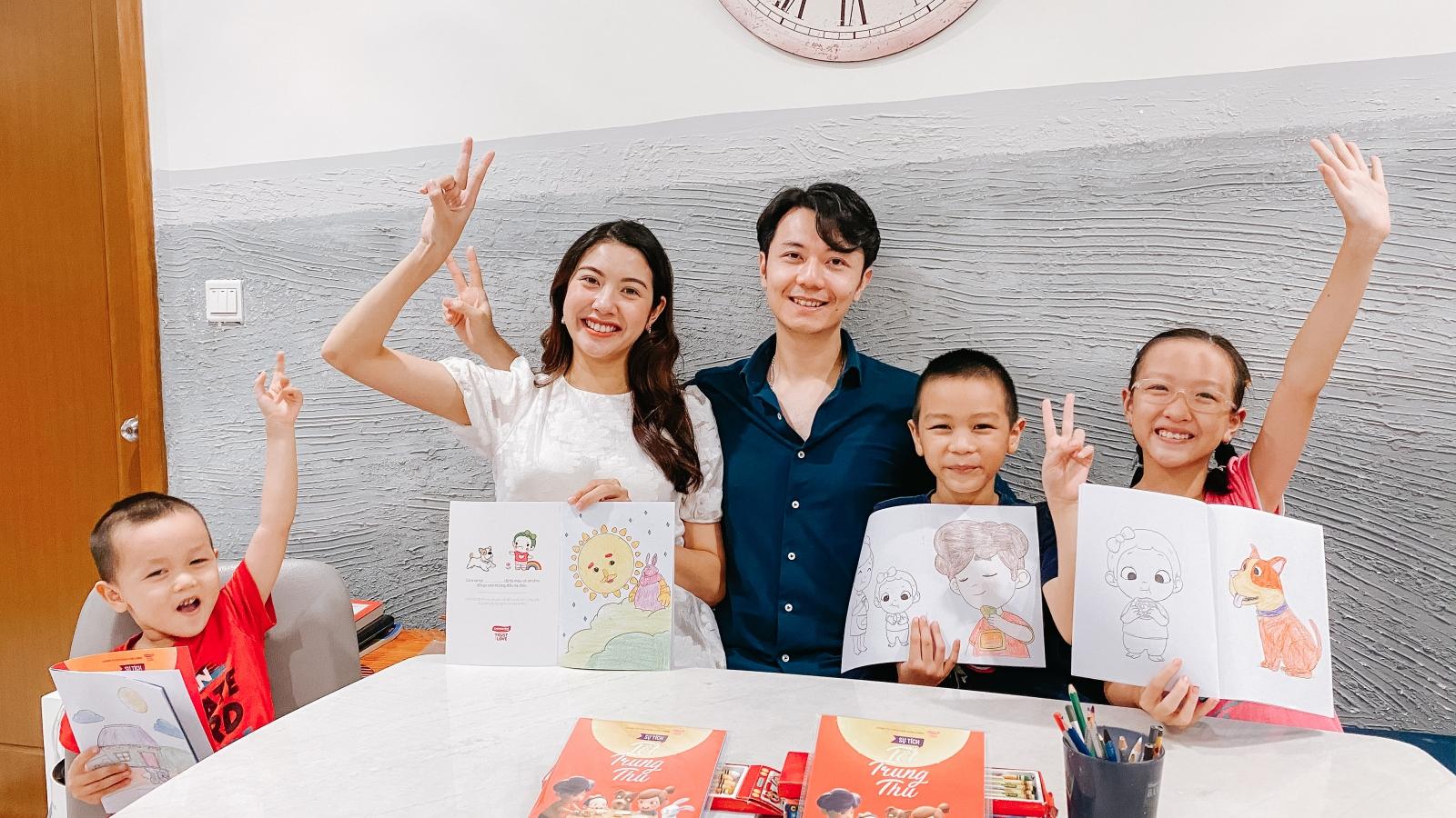 Á hậu Thuý Vân vẫn làm việc ở những tháng cuối thai kỳ
