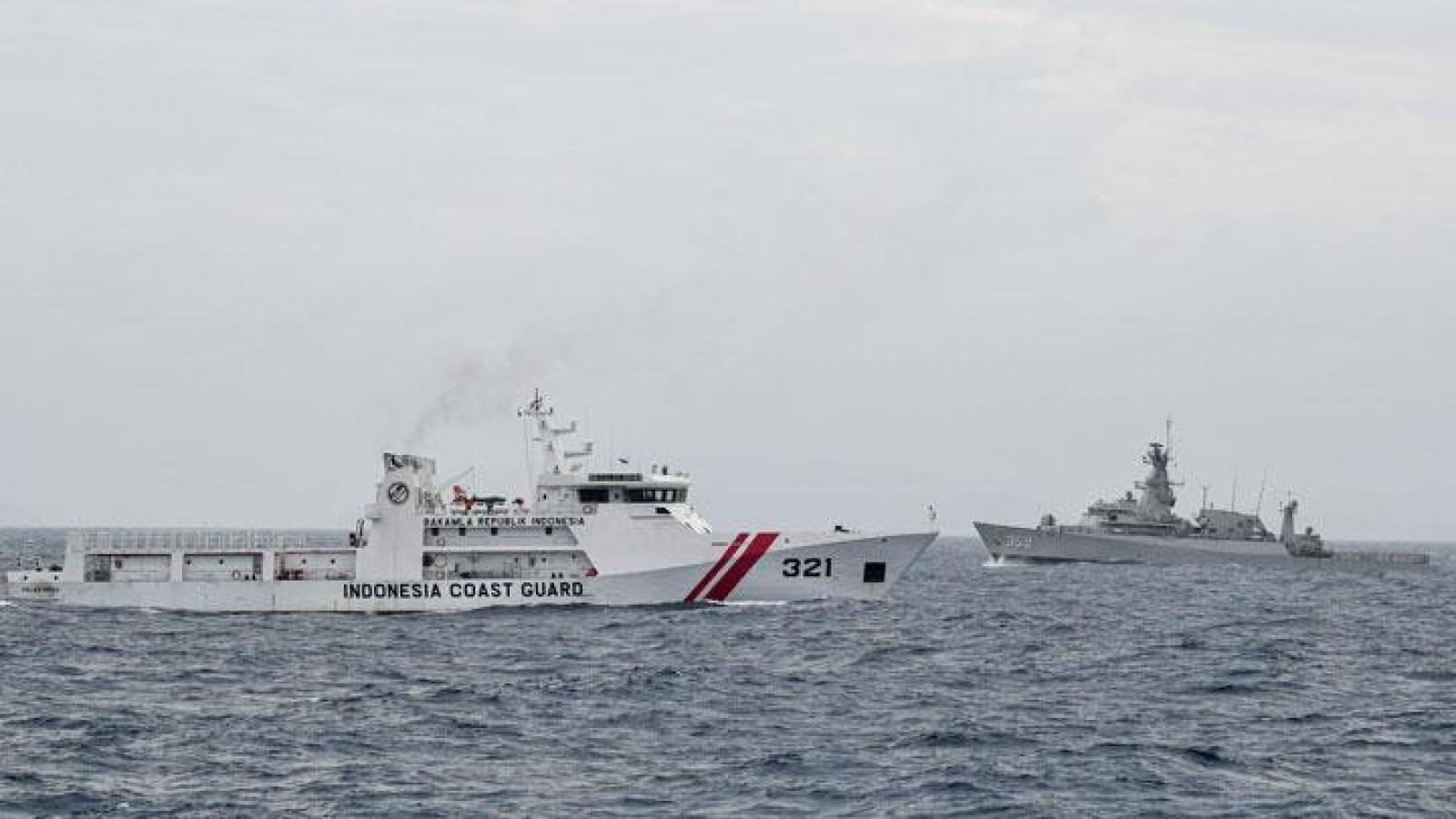 Indonesia tăng cường tuần tra vùng biển sau khi phát hiện tàu Trung Quốc