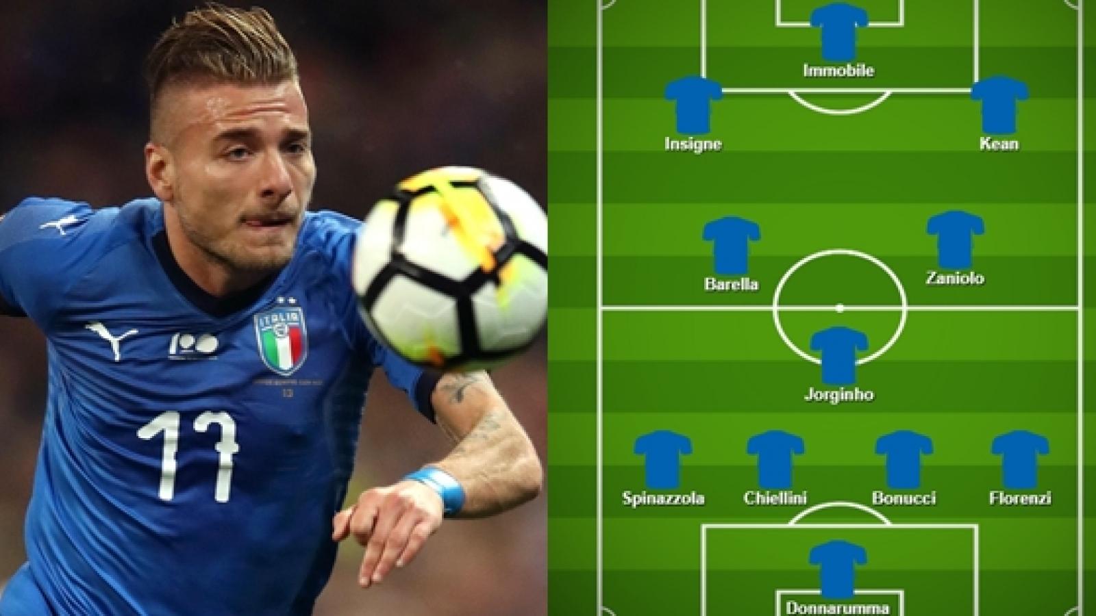 """Đội hình dự kiến của Italia trước Hà Lan: """"Chiếc giày vàng"""" lĩnh xướng hàng công"""
