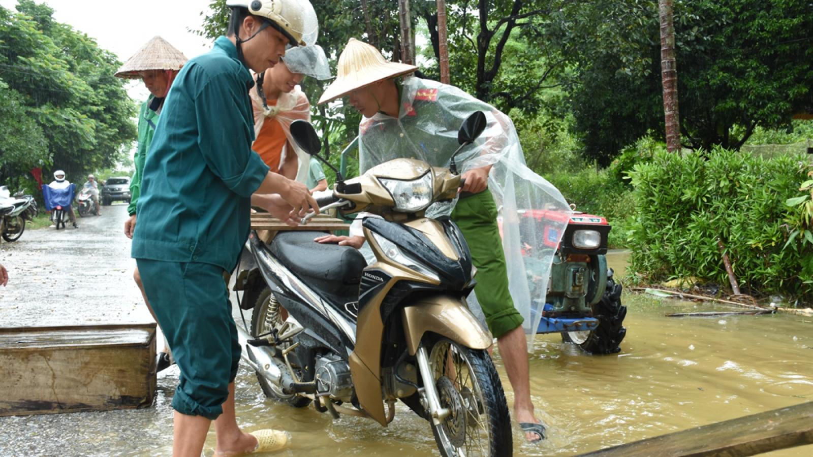Huyện Lục Yên, Yên Báitập trung khắc phục hậu quả mưa lũ