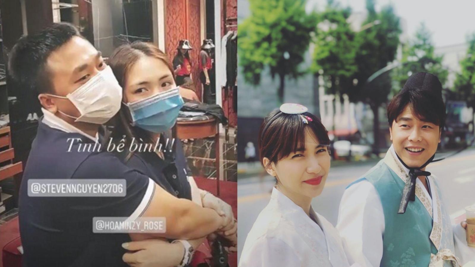 Chuyện showbiz: Bạn trai thiếu gia tình tứ ôm chặt Hoà Minzy khi đi shopping