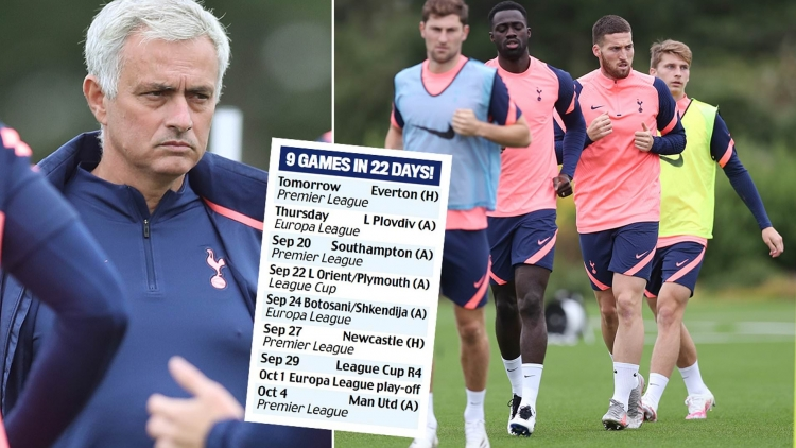 """Mourinho bức xúc vì lịch thi đấu """"hành xác"""" của Tottenham"""