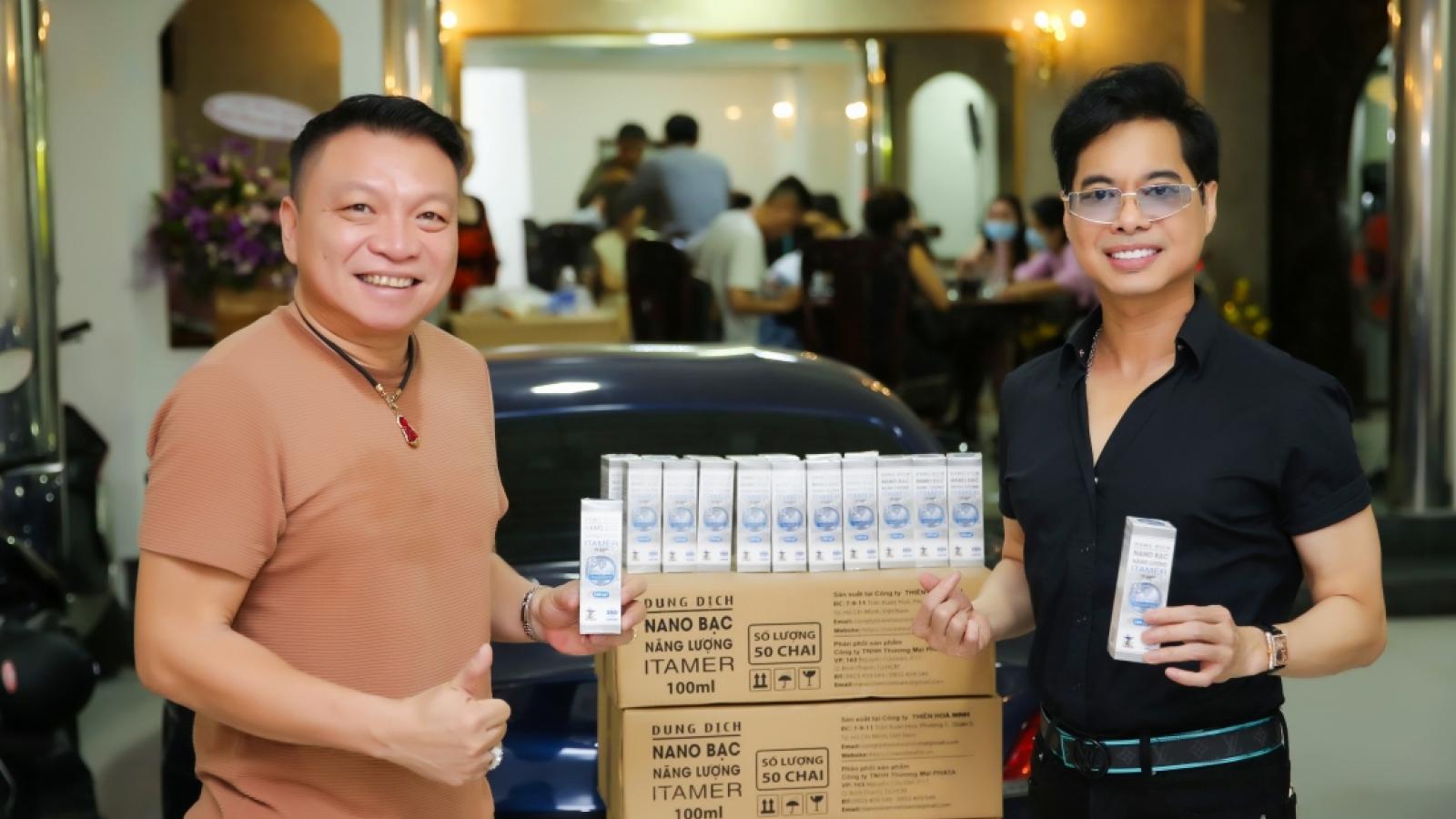 Ngọc Sơn ủng hộ 1000 chai nano bạc hỗ trợ Đà Nẵng chống dịch