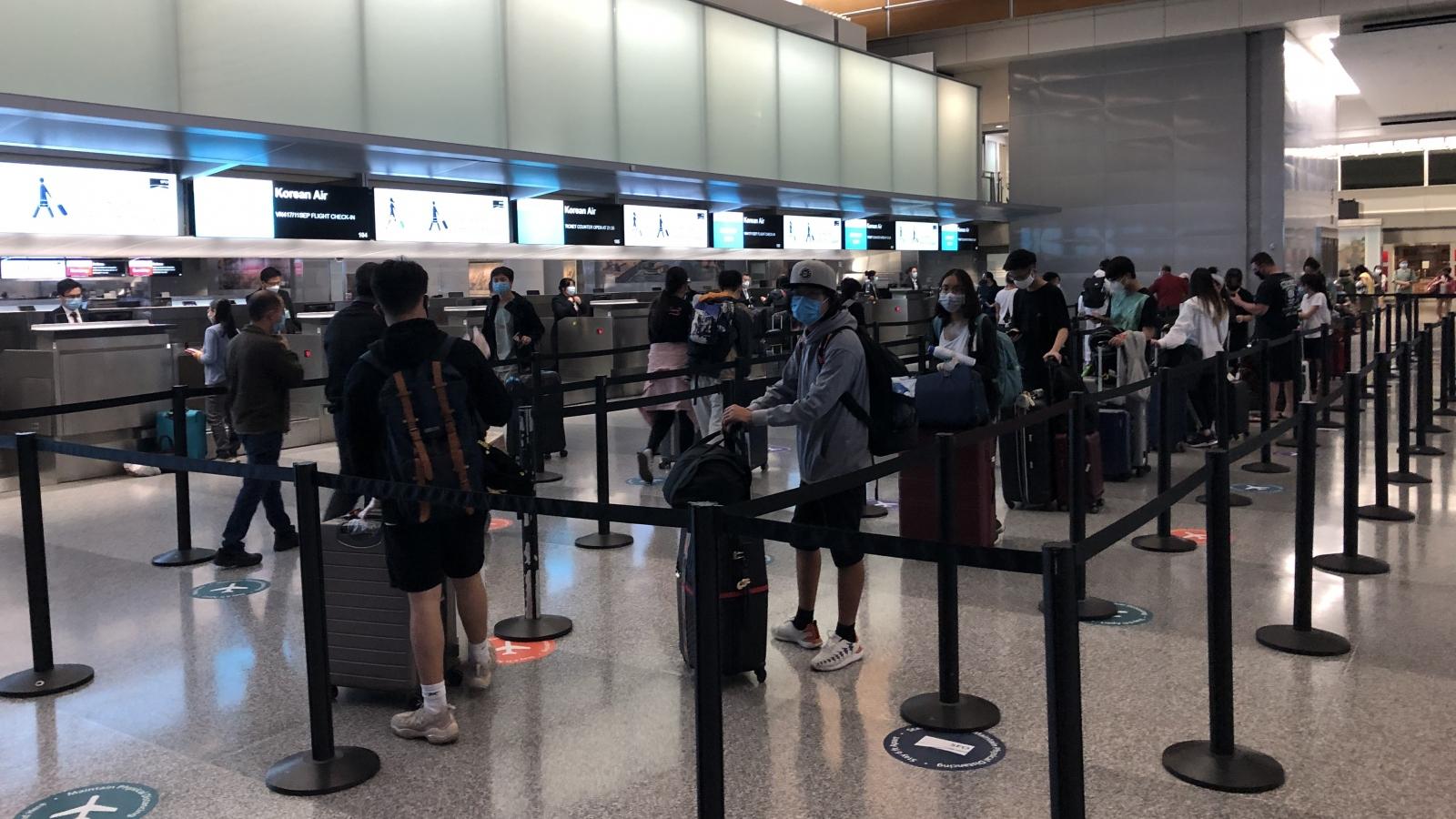 Gần 350 công dân Việt Nam ở Mỹ trở về nước an toàn