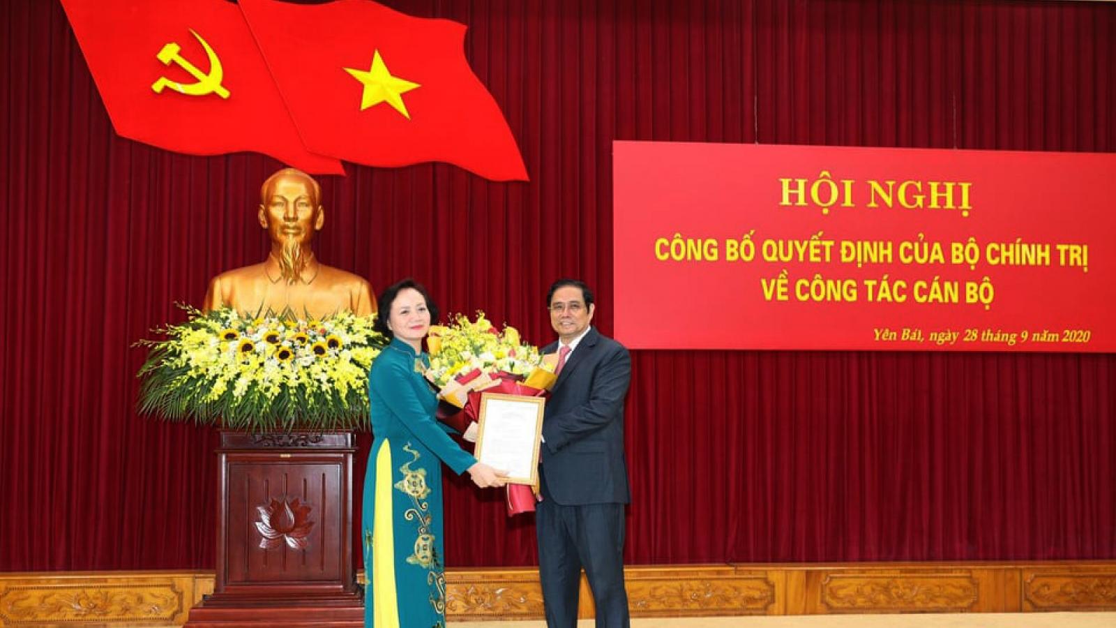 Bà Phạm Thị Thanh Trà giữ chức Thứ trưởng Bộ Nội vụ, Phó Ban Tổ chức Trung ương