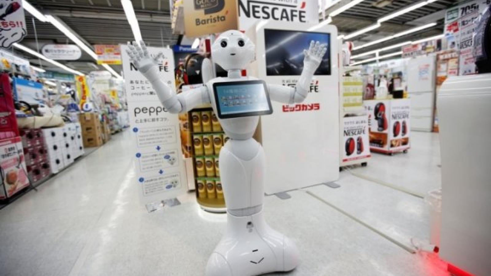 Robot nhắc đeo khẩu trang mùa Covid-19