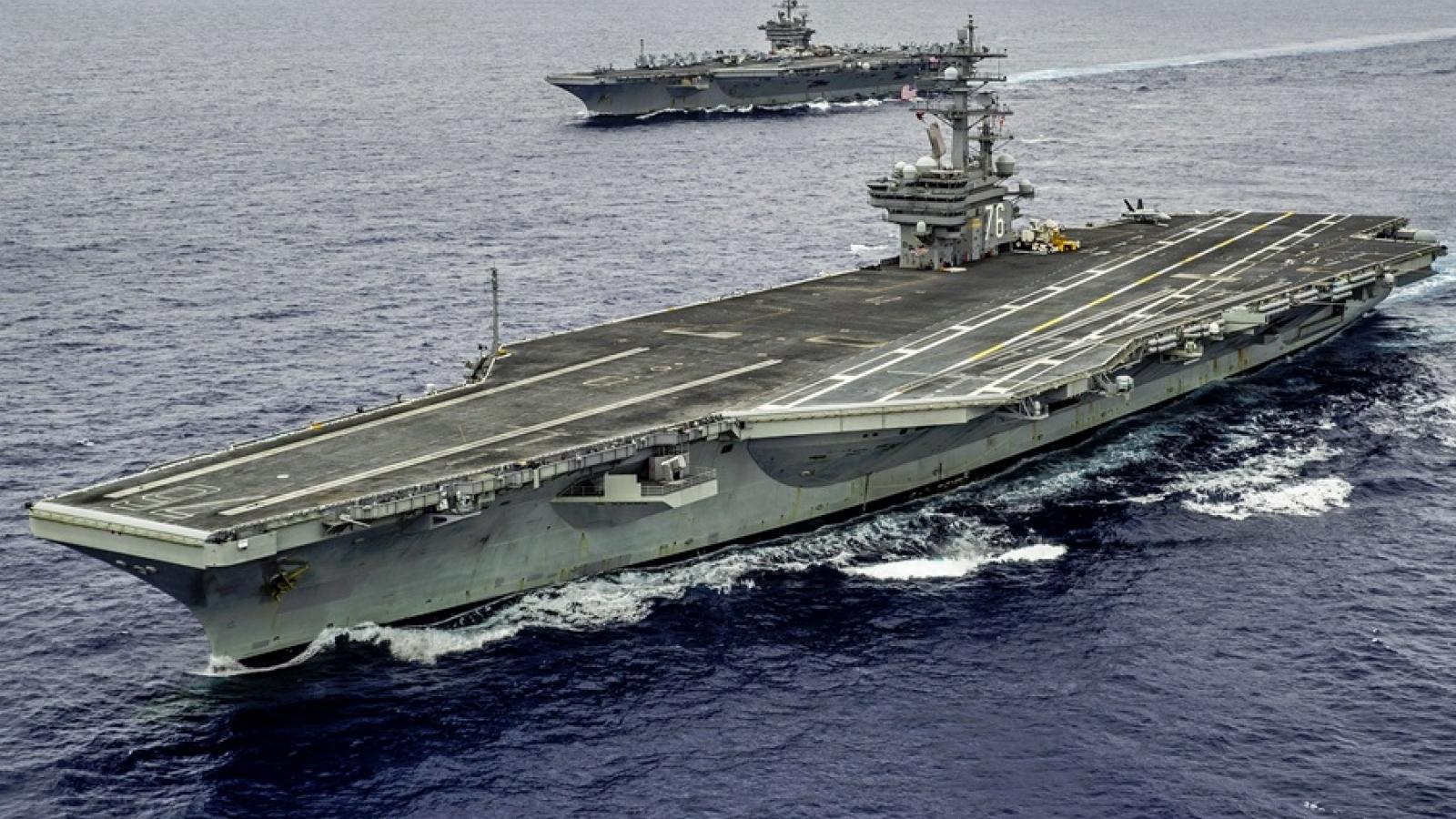 Một số thủy thủ trên tàu sân bay USS Ronald Reagan của Mỹ mắc Covid-19