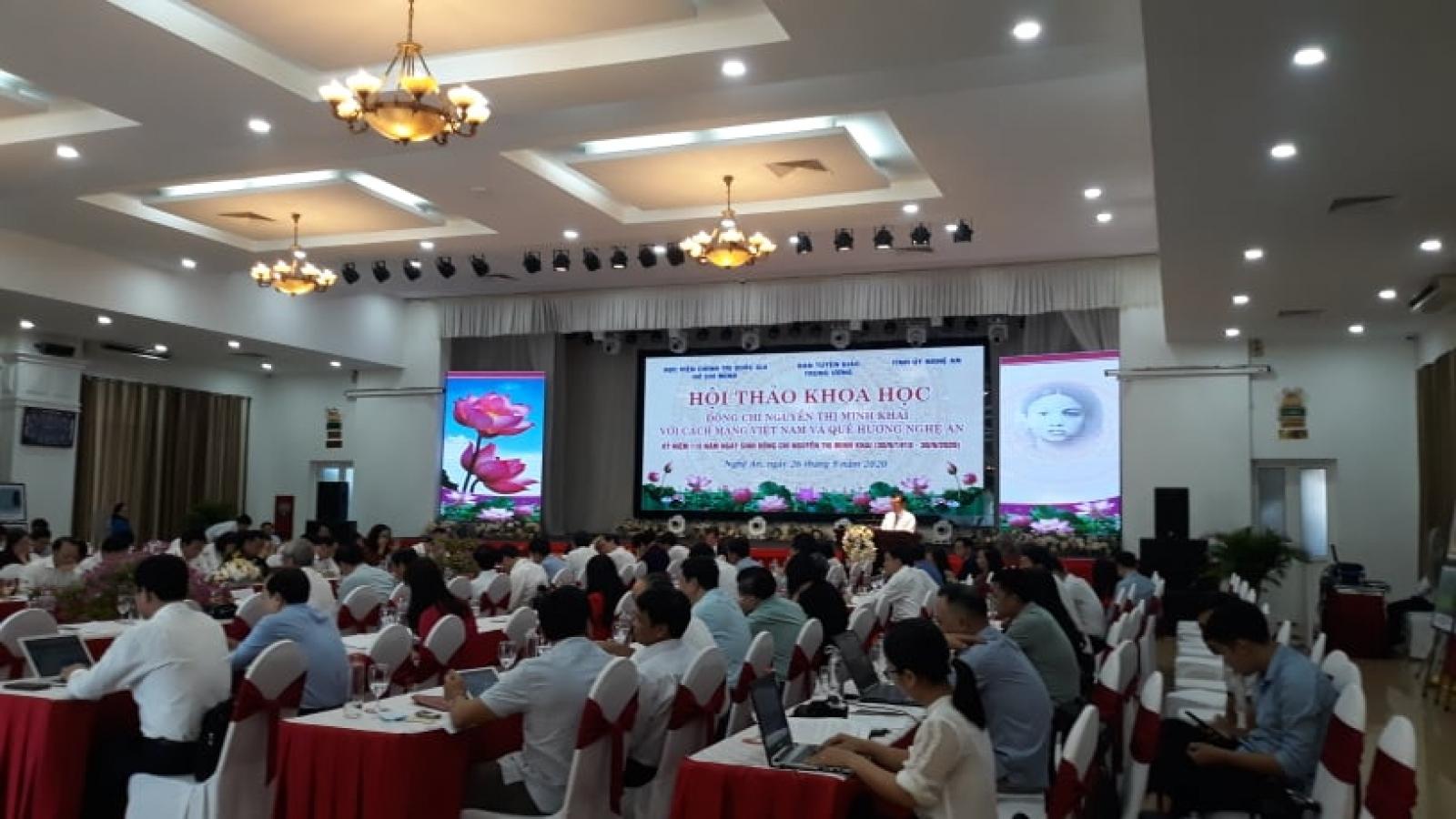 """Hội thảo """"Đồng chí Nguyễn Thị Minh Khai với Cách mạng Việt Nam và quê hương Nghệ An"""""""