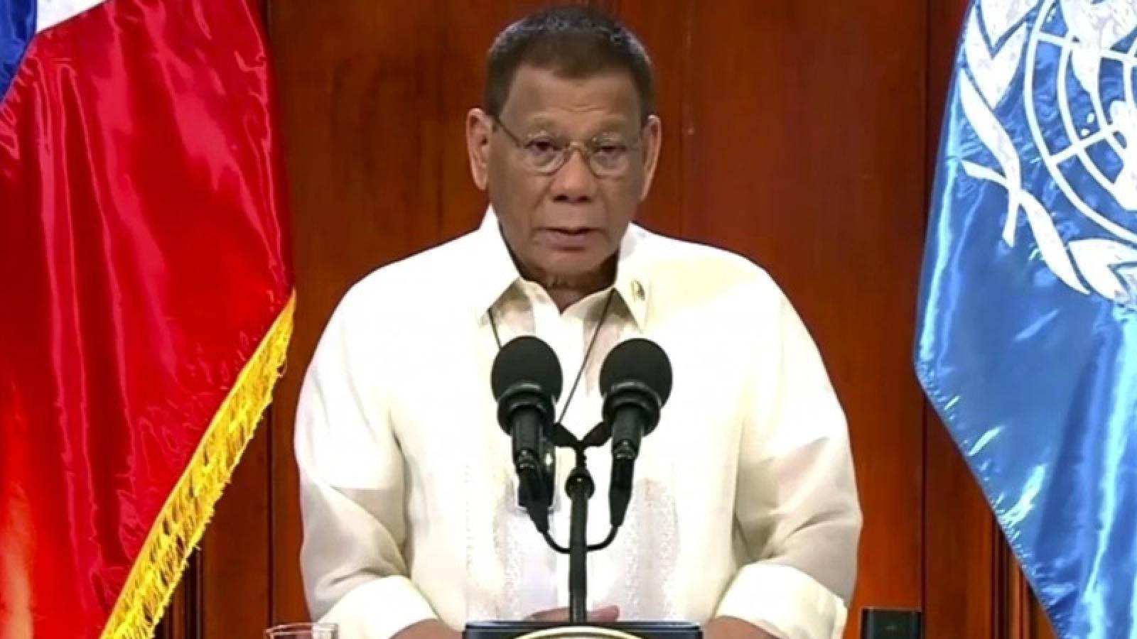 Tổng thống Philippines tuyên bố phải bảo vệ phán quyết PCA về Biển Đông
