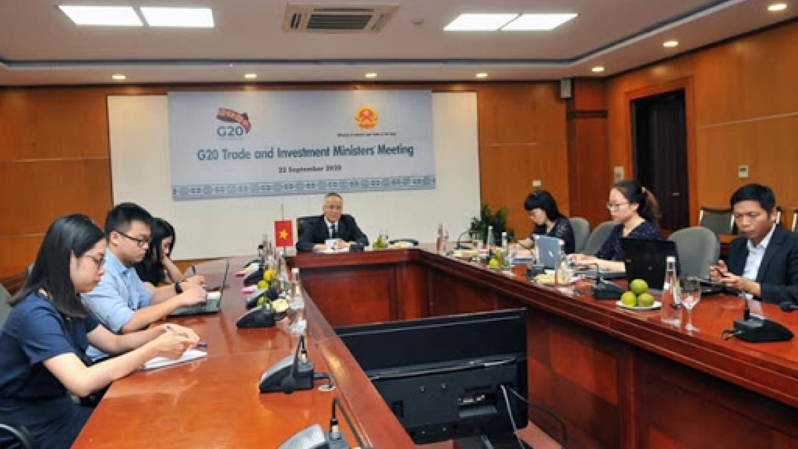 Bộ trưởng Thương mại G20 cam kết nỗ lực phục hồi kinh tế toàn cầu ảnh hưởng vì Covid-19