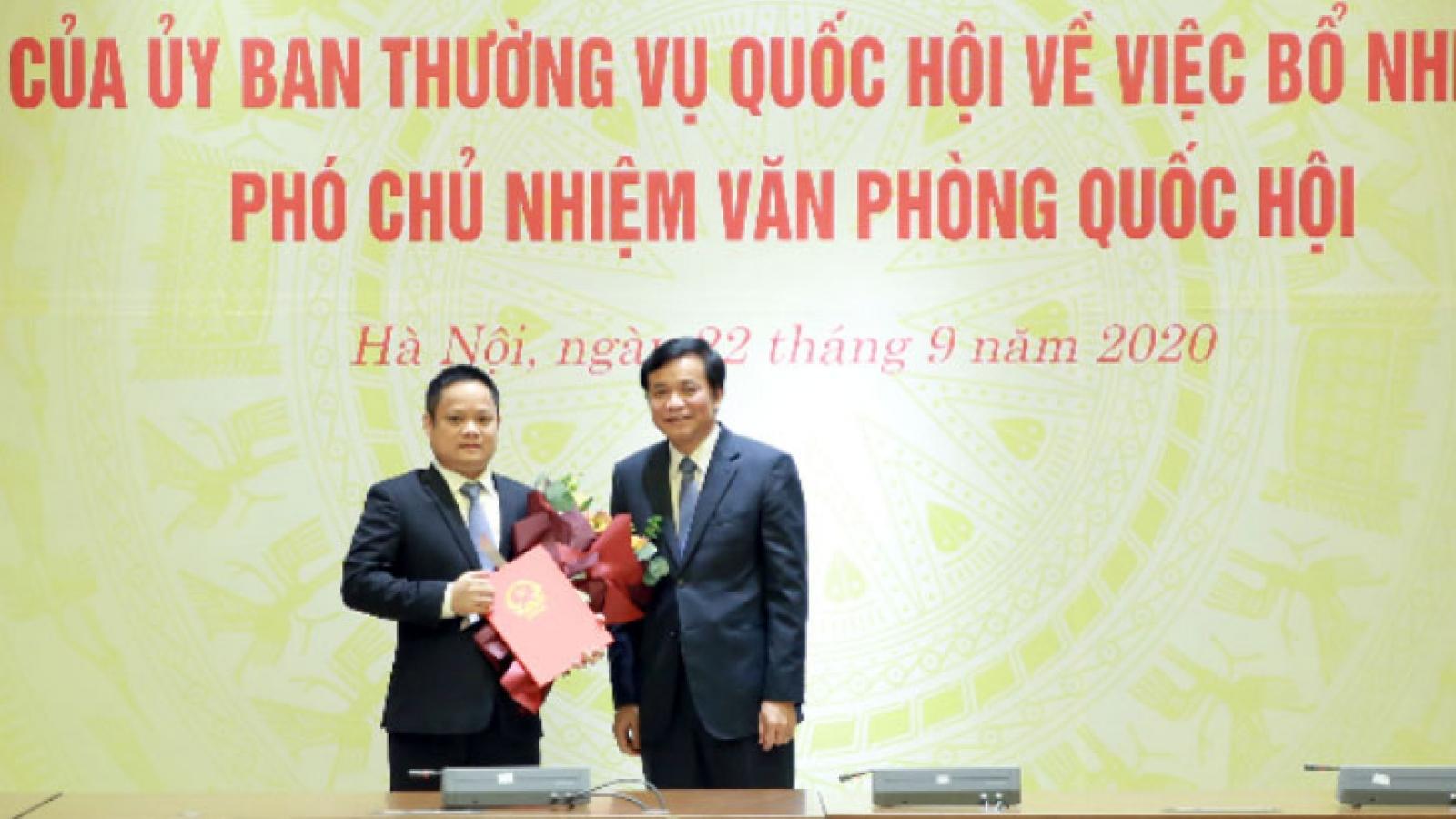 Ông Vũ Minh Tuấn giữ chức Phó Chủ nhiệm Văn phòng Quốc hội