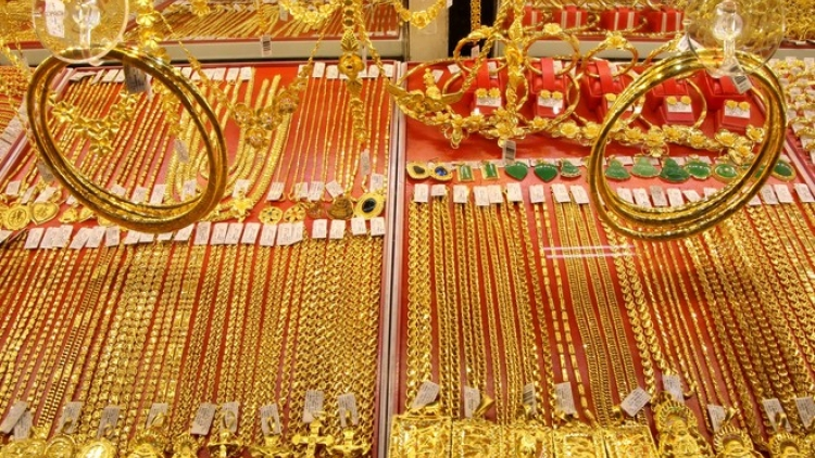 Giá vàng đồng loạt tăng