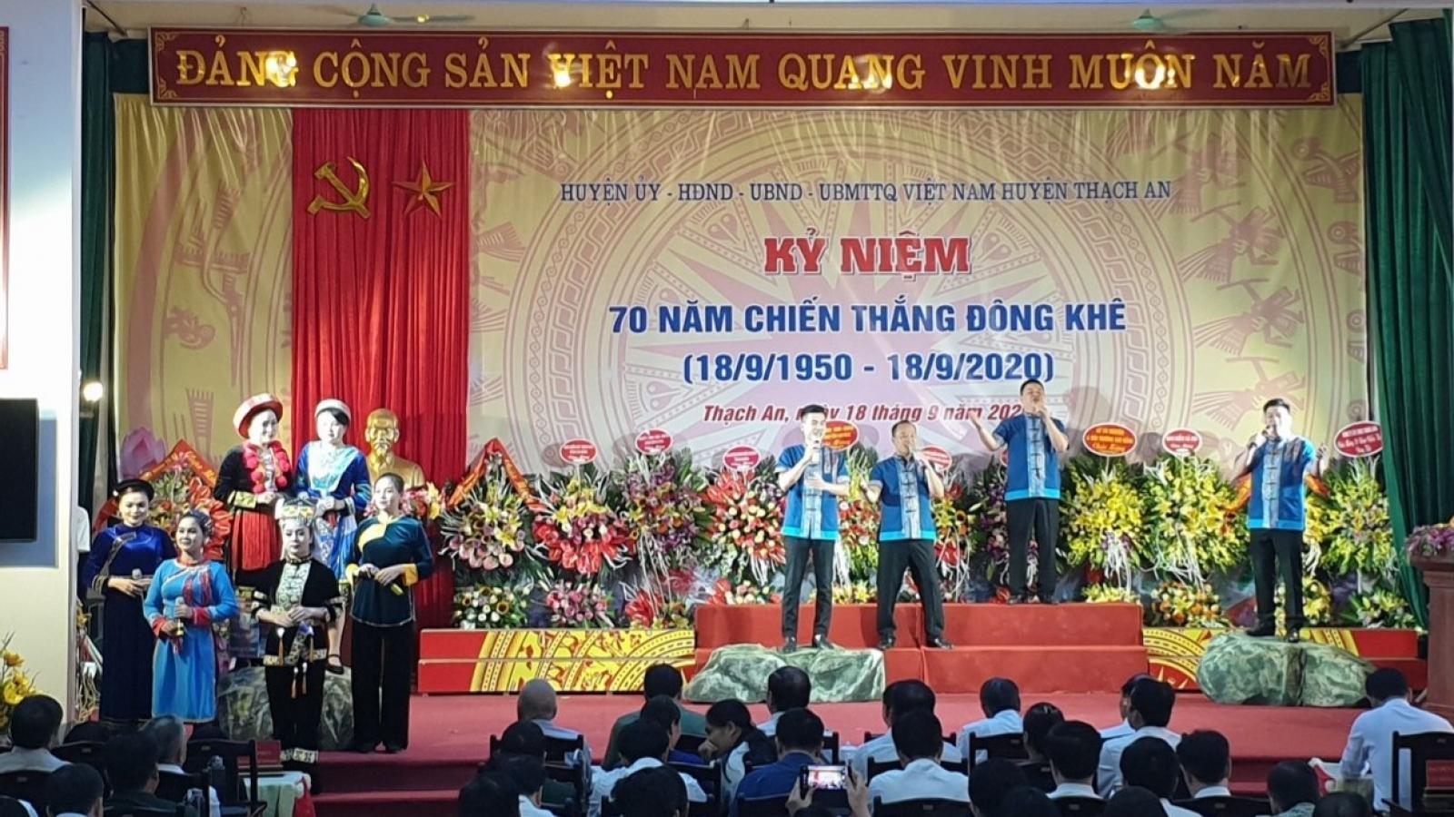 Cao Bằng kỷ niệm 70 năm chiến thắng Đông Khê
