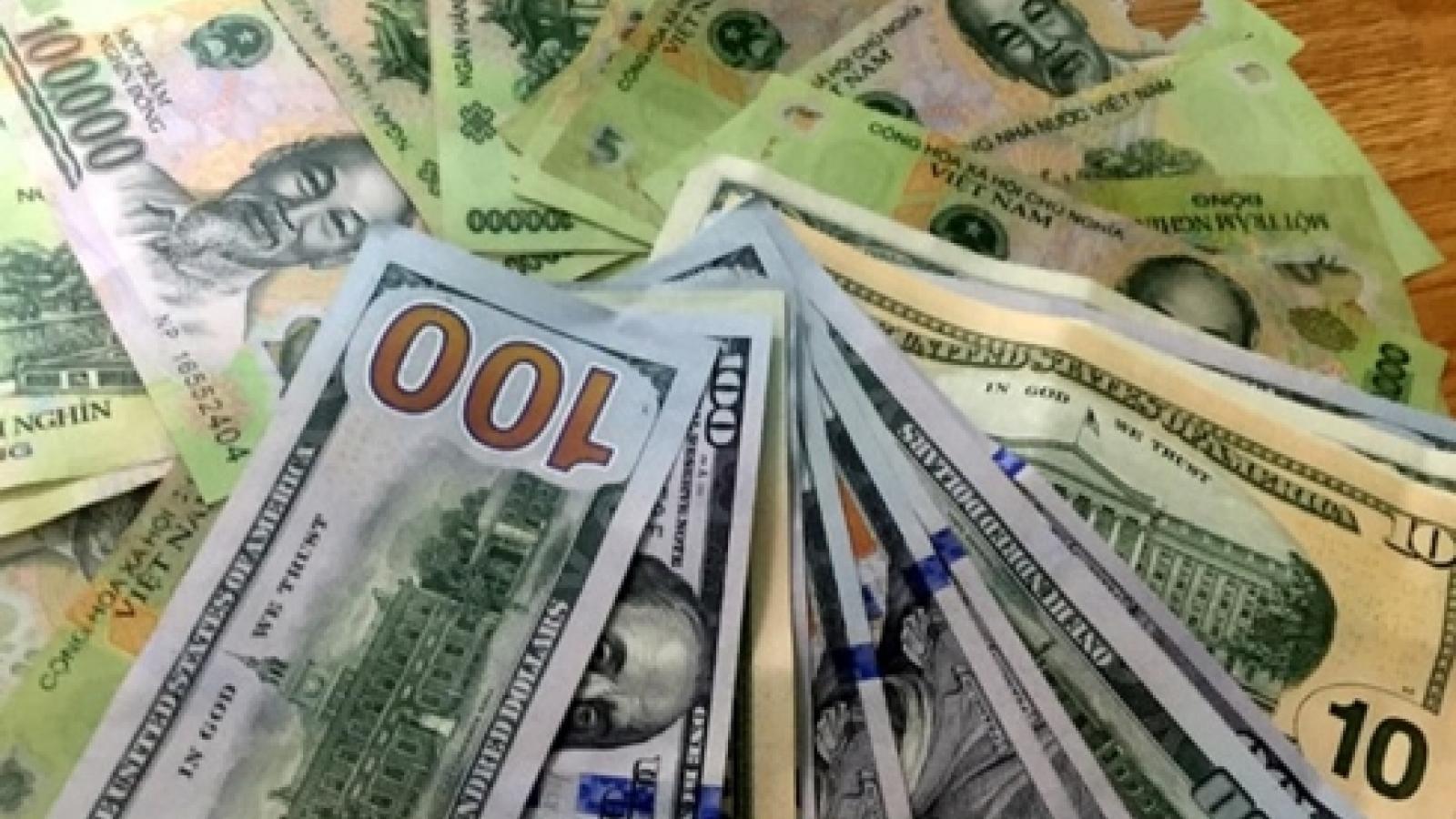 Tỷ giá trung tâm tăng 8 đồng, lên mức 23.211 VND/USD