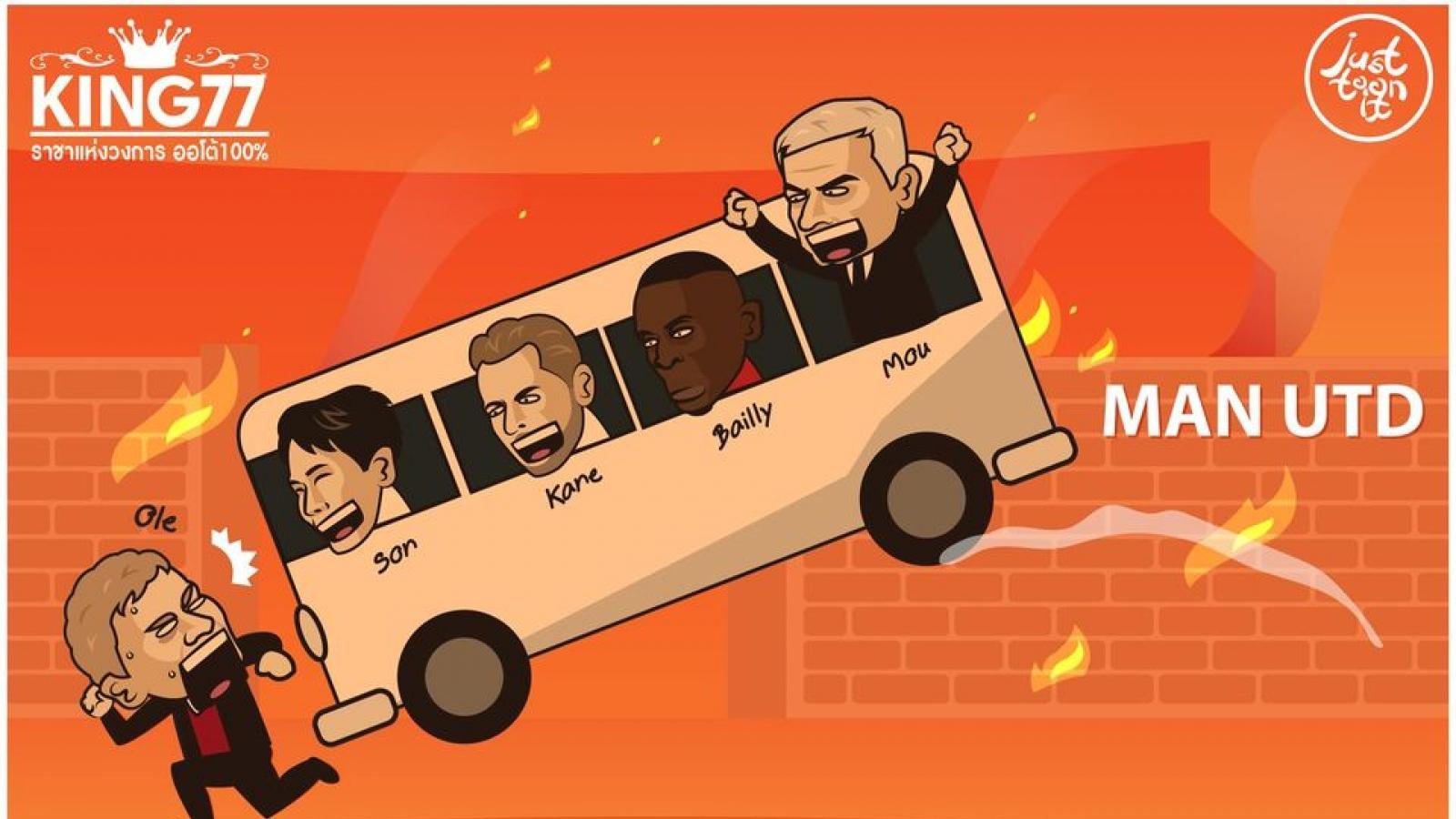 Biếm họa 24h: HLV Mourinho khiến đồng nghiệp Solskjaer chạy vã mồ hôi
