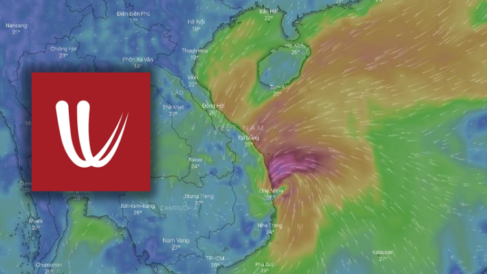 Windy: Ứng dụng xem và dự đoán hướng đi của bão chuẩn xác