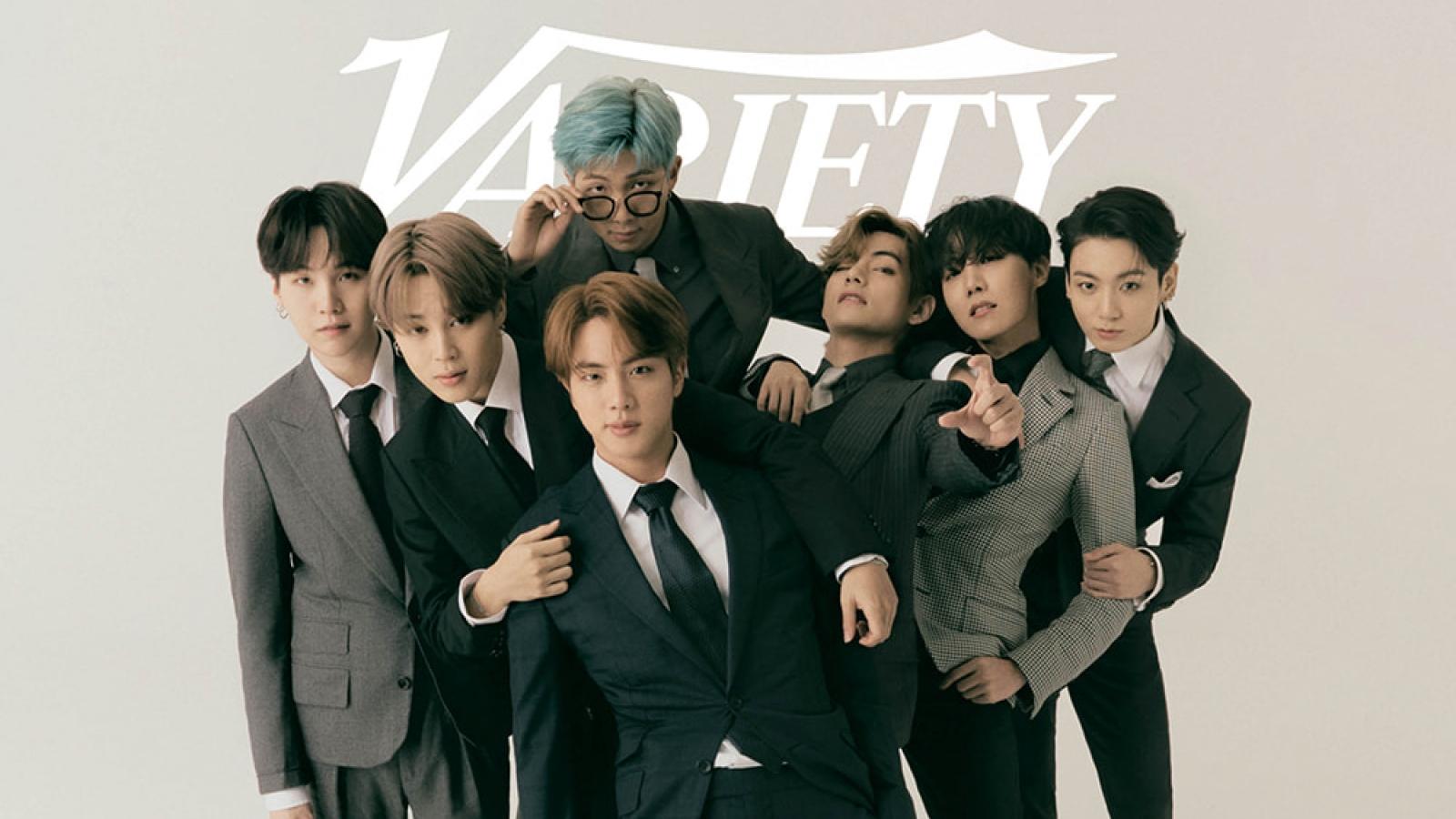 BTS gây bão với bộ ảnh đẹp tựa nam thần trên tạp chí Variety