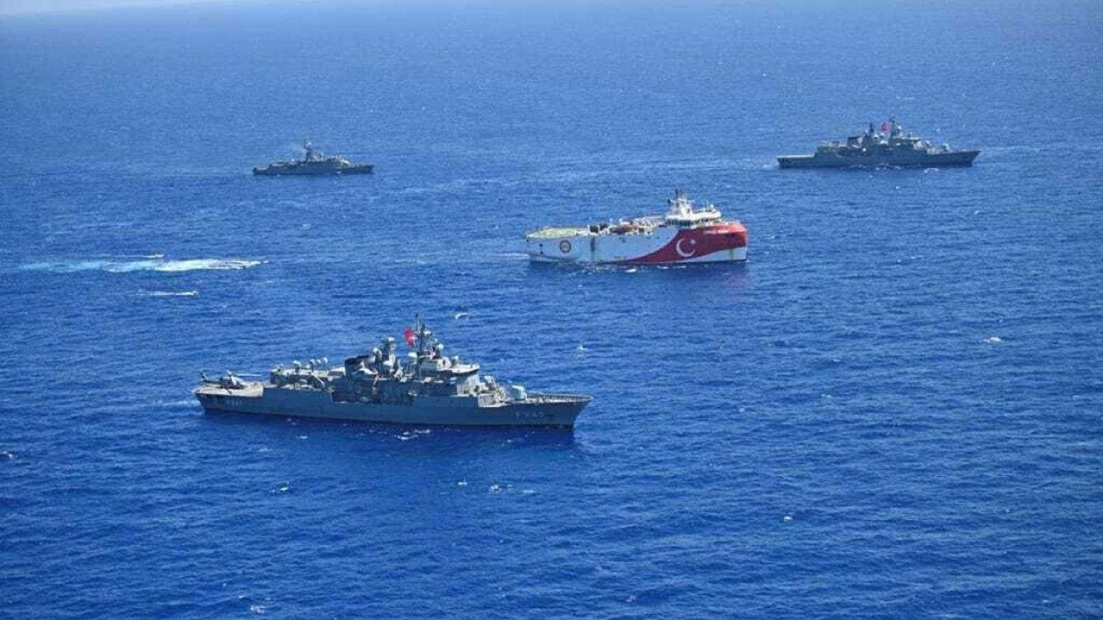 Hy Lạp phản đối cuộc khảo sát của Thổ Nhĩ Kỳ ở Đông Địa Trung Hải