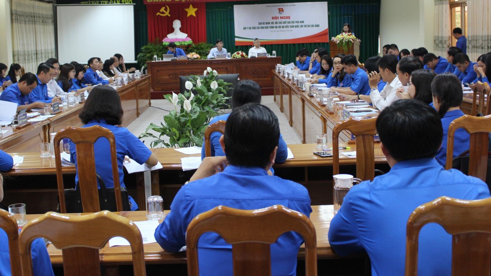 Cán bộ Đoàn, Hội góp ý dự thảo văn kiện Đại hội XIII