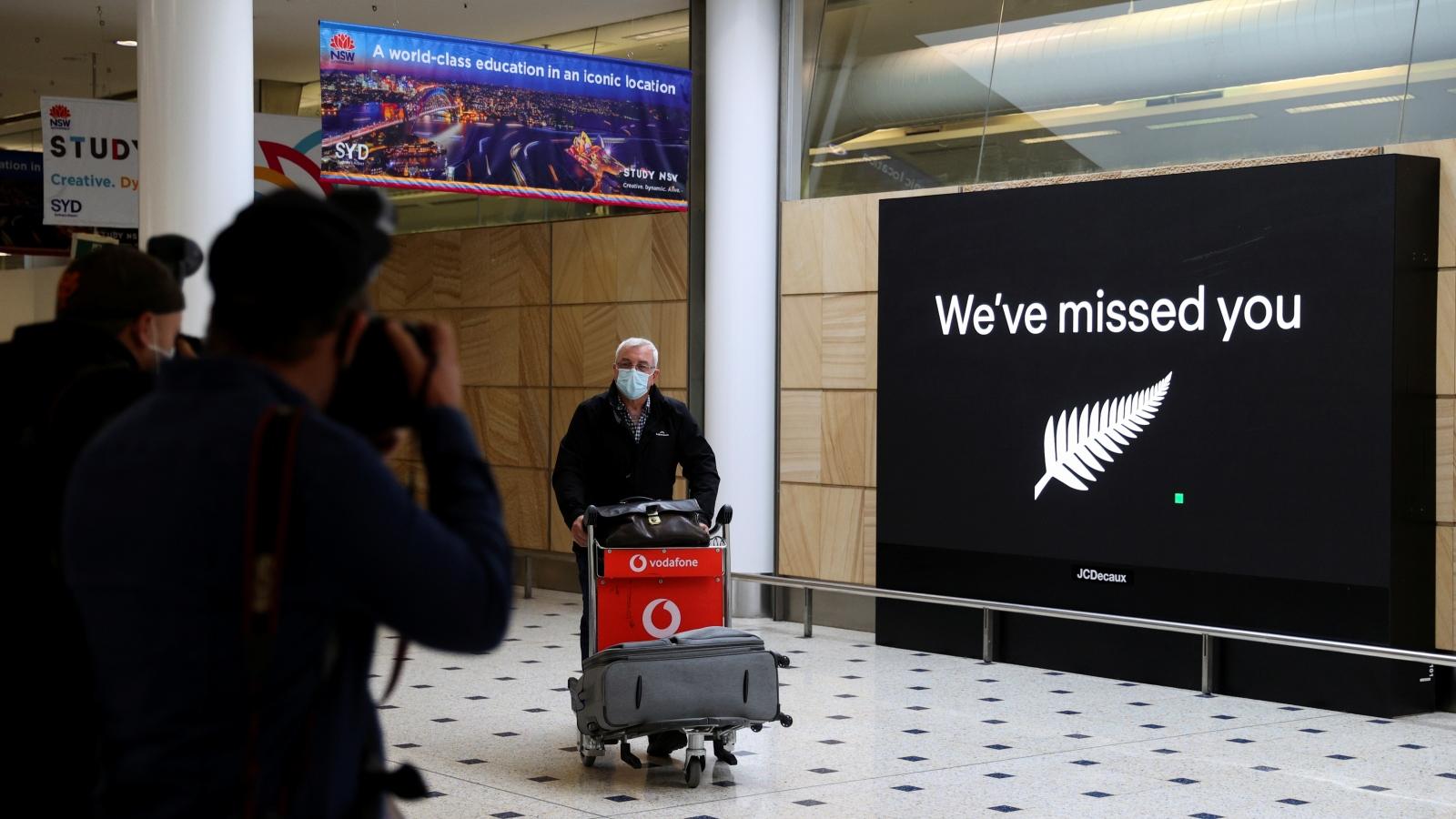 """""""Bong bóng du lịch"""" Australia - New Zealand đã mở, hành khách không phải cách ly"""