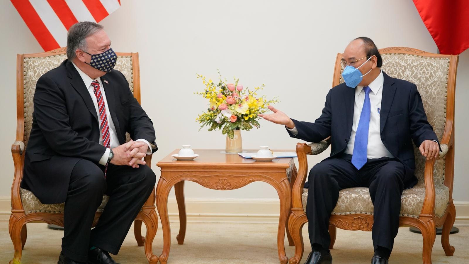 Ngoại trưởng Hoa Kỳ Mike Pompeo bày tỏ vui mừng khi trở lại Việt Nam