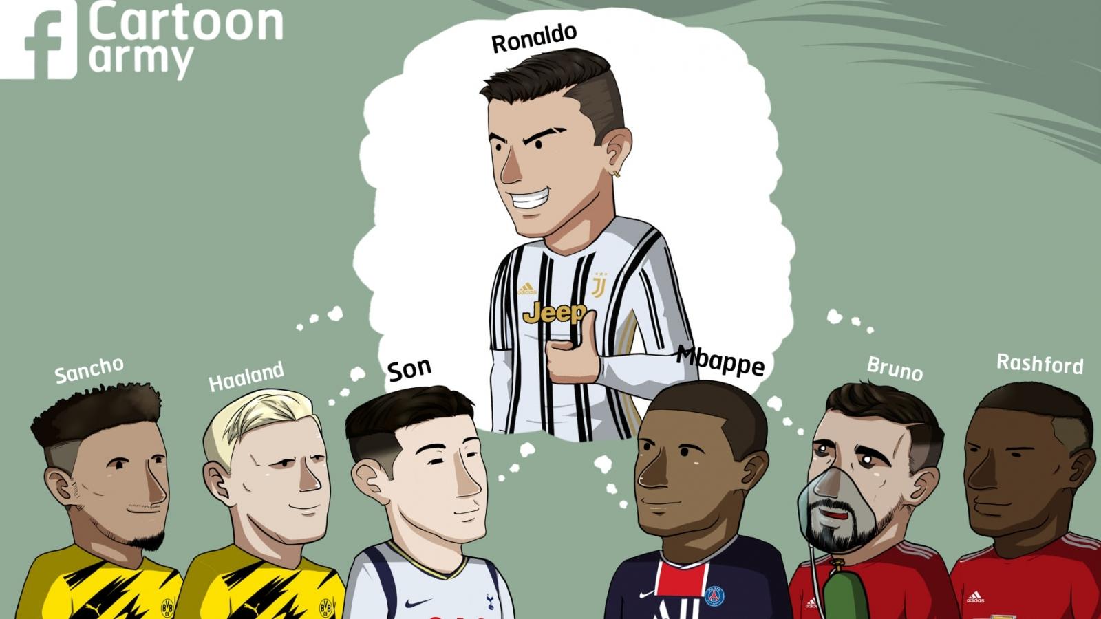 Biếm họa 24h: Ronaldo là thần tượng của nhiều sao trẻ