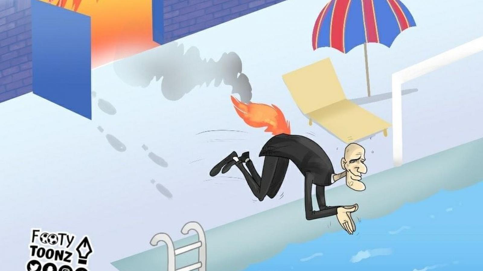 Biếm họa 24h: Zidane thoát hiểm ngoạn mục