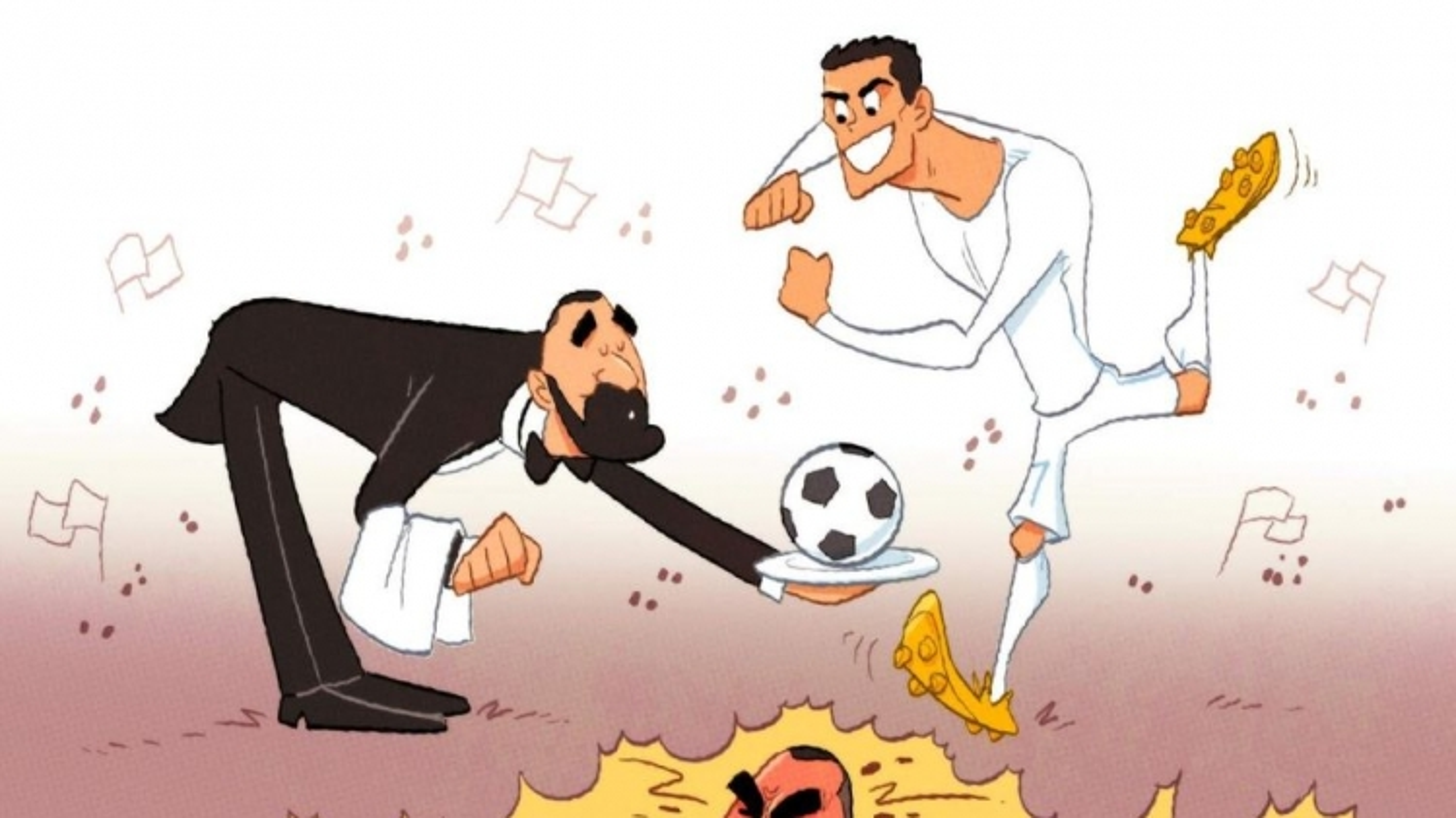 "Biếm họa 24h: Benzema thoát kiếp kẻ ""dọn cỗ"""