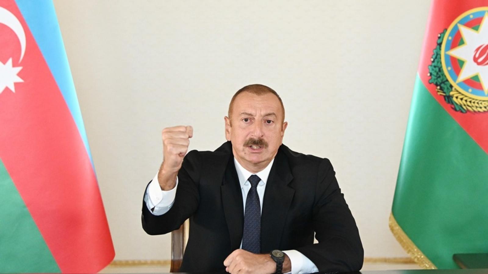 Azerbaijan cứng rắn trong quan điểm về Nagorno-Karabakh, thỏa thuận ngừng bắn mong manh