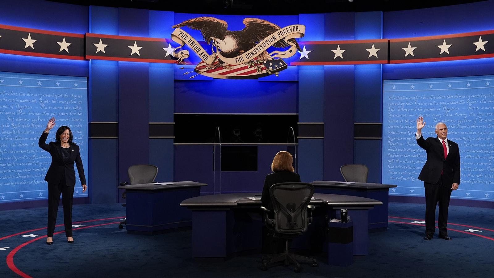 Toàn cảnh cuộc tranh luận phó tổng thống duy nhất Pence-Harris