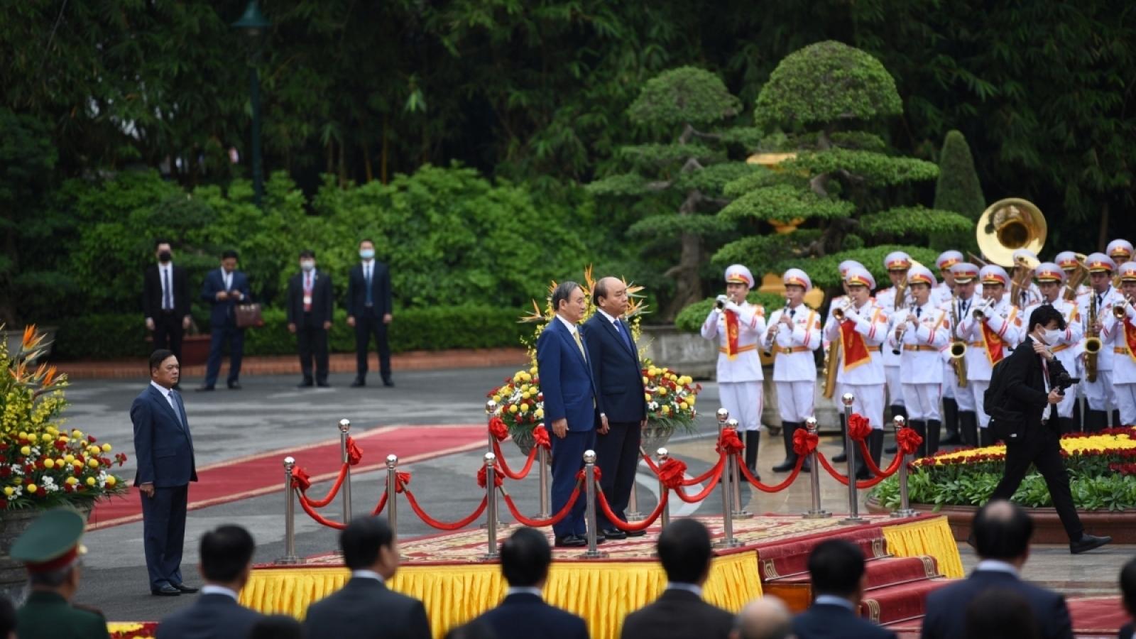 Japanese media puts spotlight on visit by PM Yoshihide Suga