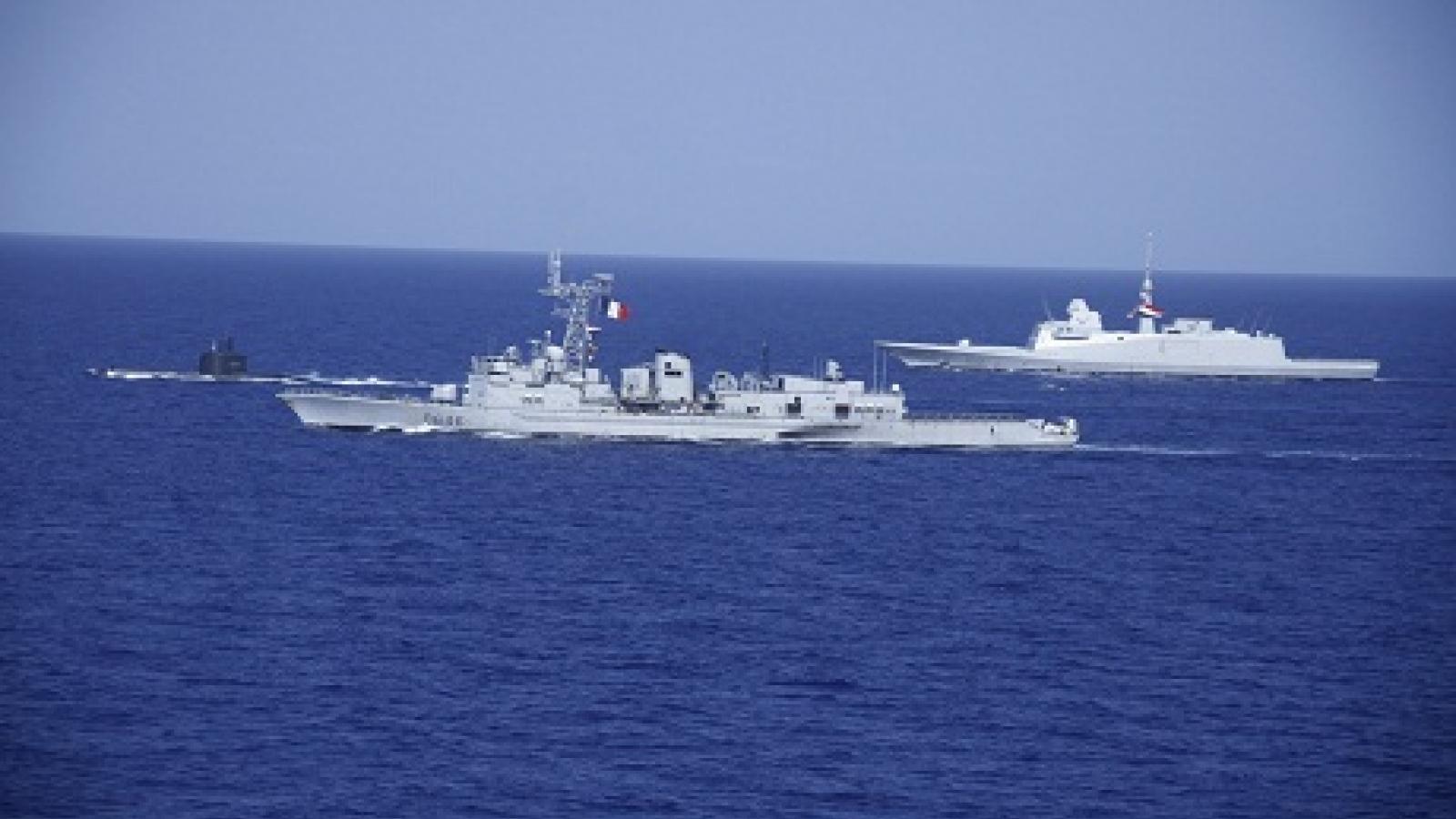 Ai Cập và Pháp tập trận chung tại vùng biển Địa Trung Hải