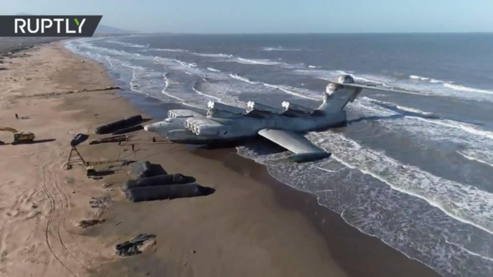 """""""Quái vật biển Caspian"""" được đưa tới nơi xây dựng công viên quân sự"""