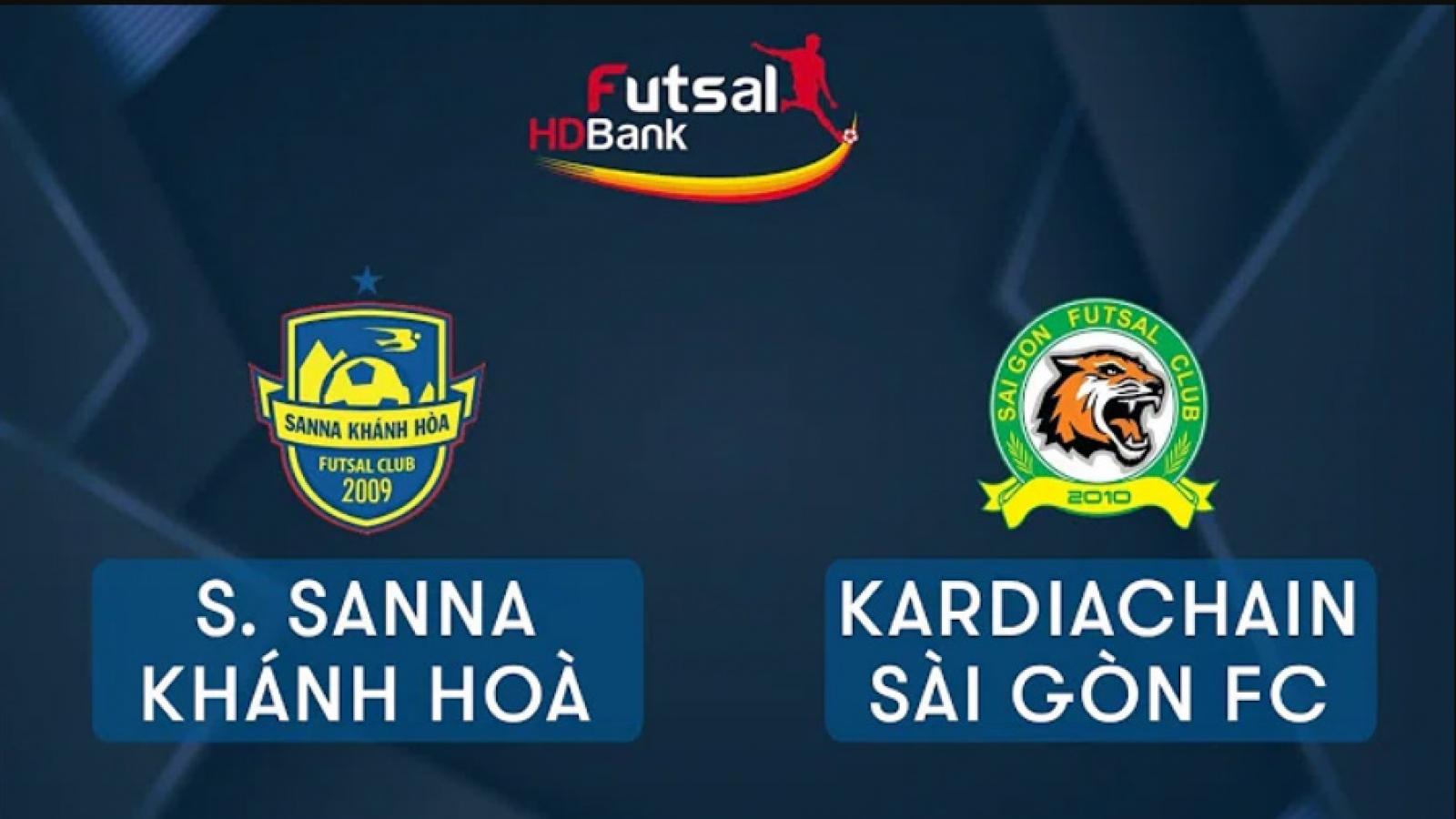 Xem trực tiếp Futsal HDBank VĐQG 2020: Sanna Khánh Hòa - Kardiachain Sài Gòn