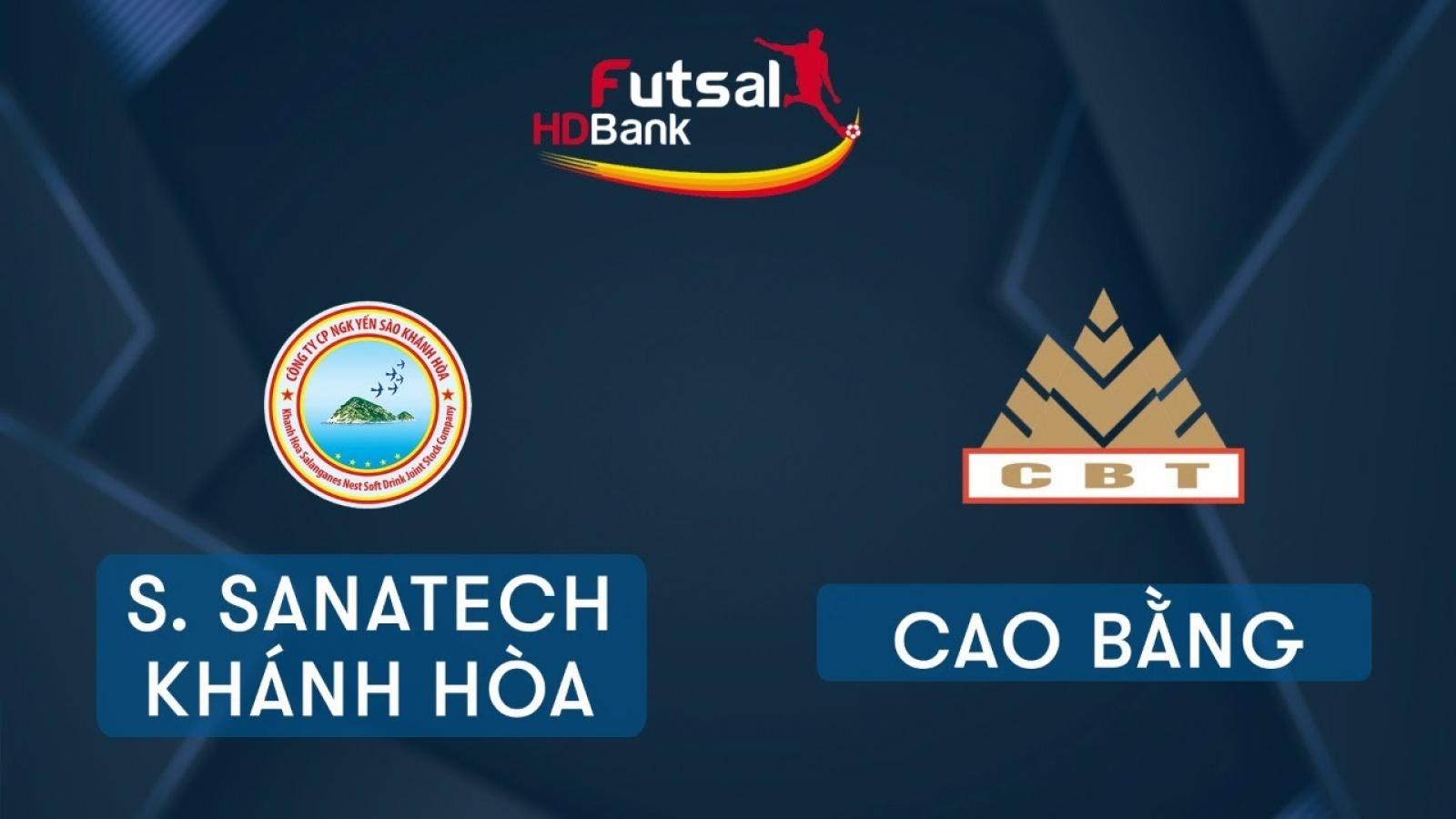 TRỰC TIẾP Savinest Sanatech Khánh Hòa vs Cao Bằng tại Giải Futsal HDBank 2020