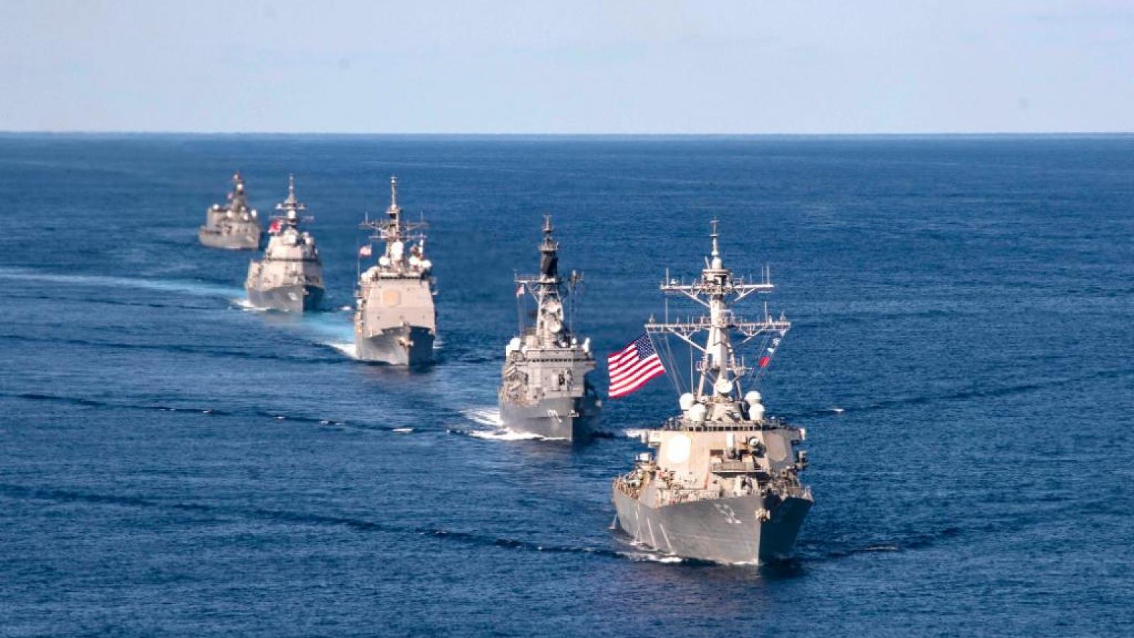 Nhóm tác chiến tàu sân bay Mỹ tập trận Keen Sword cùng tàu chiến Nhật Bản, Canada