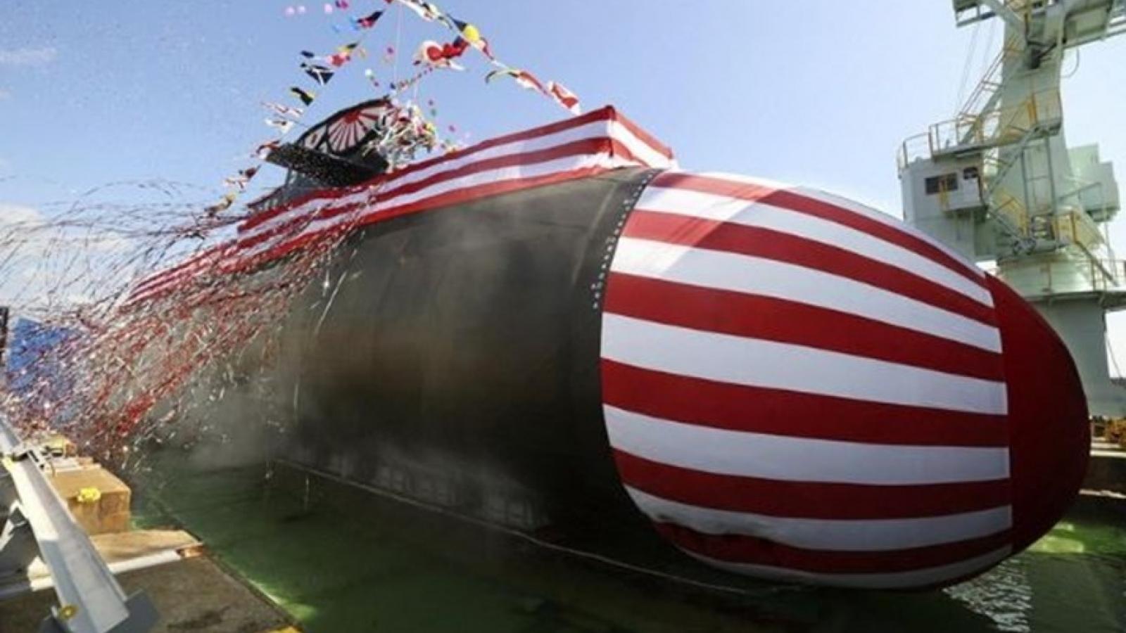"""Nhật Bản trình làng tàu ngầm """"sát thủ"""" mới giữa lúc căng thẳng với Trung Quốc"""