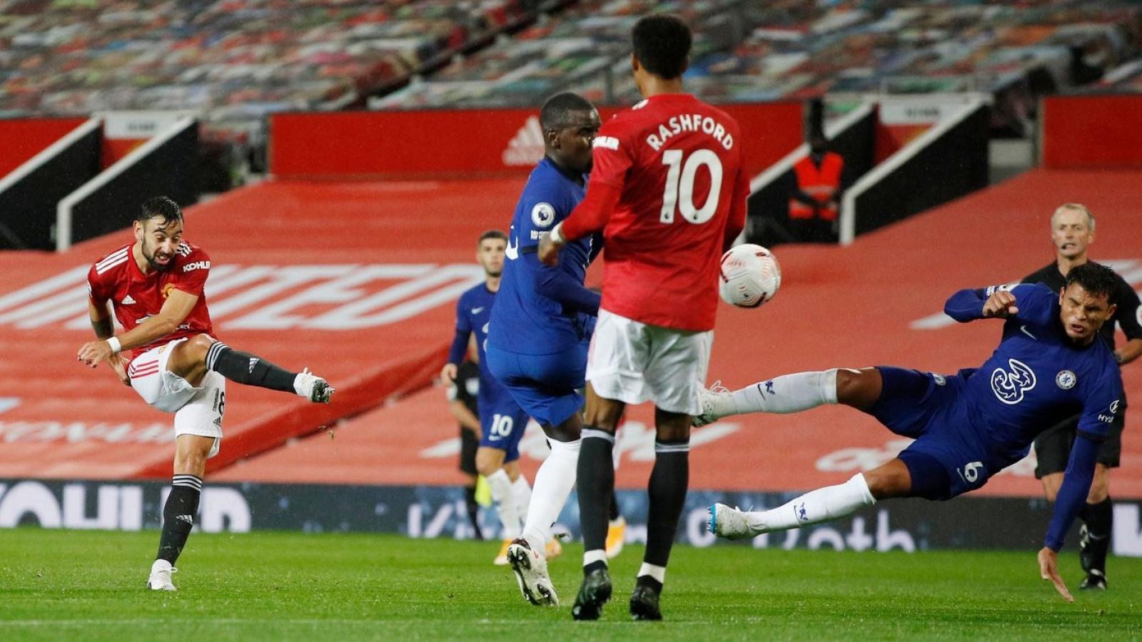 """Phung phí cơ hội, MU chia điểm """"nhạt nhẽo"""" cùng Chelsea trên sân nhà"""