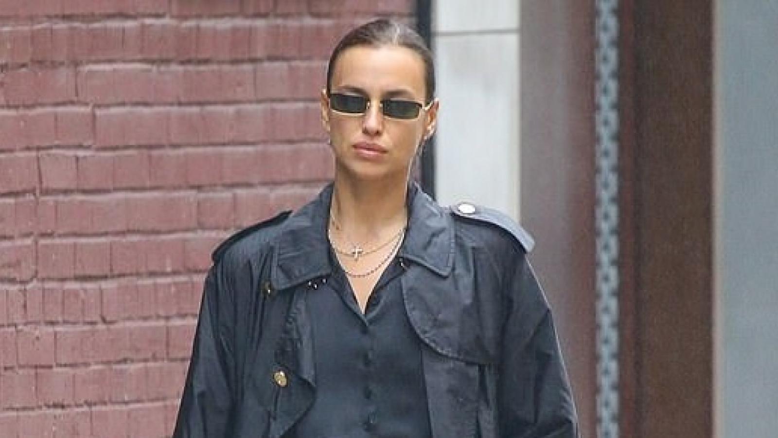 Irina Shayk diện đồ hiệu sang chảnh ra phố