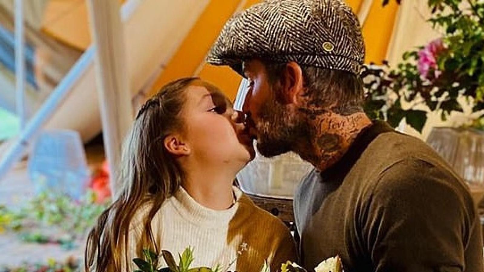 David Beckham và con gái cưng hào hứng đi thu hoạch rau quả tại trang trại