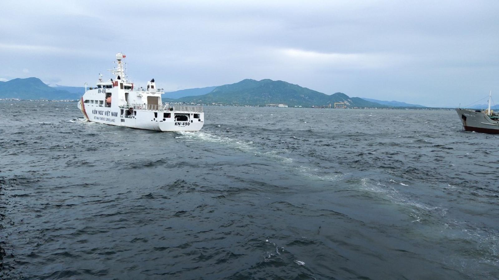 23h đêm nay, tàu kiểm ngư sẽ tiếp cận tàu cá Bình Định gặp nạn