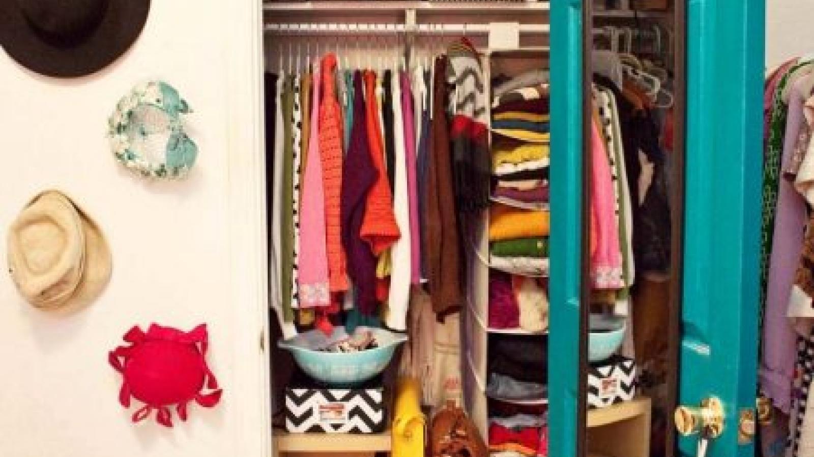 Mẹo nhỏ để sắp xếp một tủ quần áo ngăn nắp