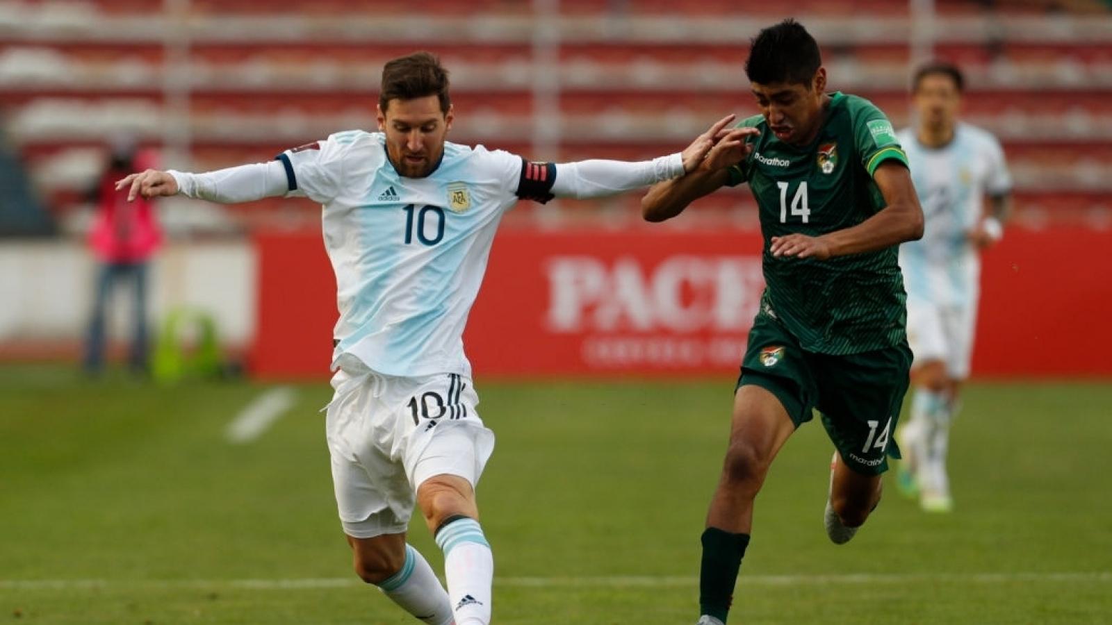 Messi ghi dấu ấn, Argentina ngược dòng đánh bại Bolivia