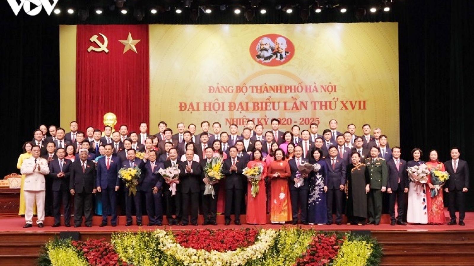 Danh sách Ban Chấp hành Đảng bộ TP Hà Nội khóa XVII, nhiệm kỳ 2020-2025