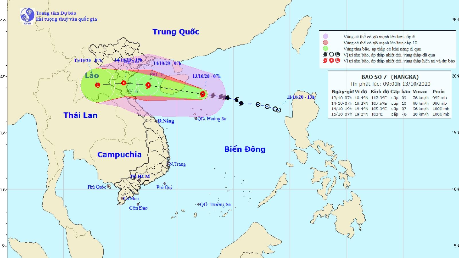 Bão số 7 giật cấp 11,  cách đảo Hải Nam (Trung Quốc) khoảng 220km