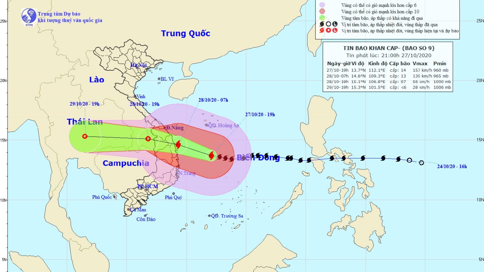 Bão số 9 gây gió giật cấp 10 ở đảo Lý Sơn, Quảng Ngãi